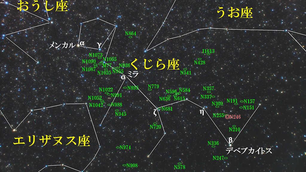 くじら座(鯨座)/Cetus(ケトウス)