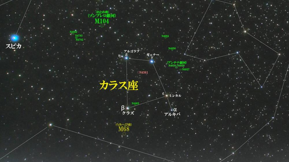 からす座(烏座)/Corvus(コルブス)