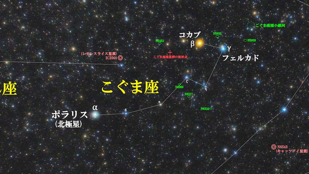 こぐま座(小熊座)/Ursa Minor(ウルサ ミノル)