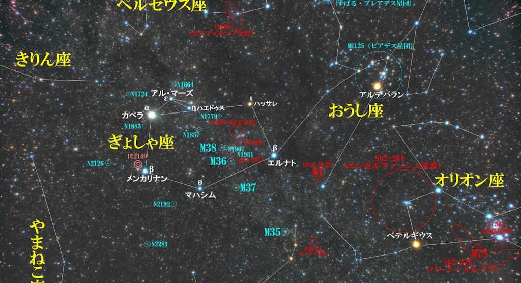 ぎょしゃ座(馭者座)/Auriga(オーリガ)