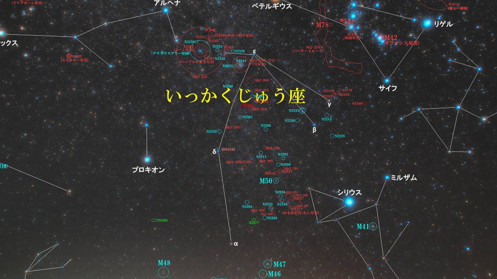 いっかくじゅう座(一角獣座)/Monoceros(モノケロス)