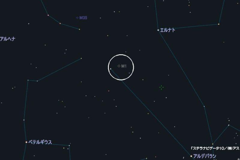 m1の星図