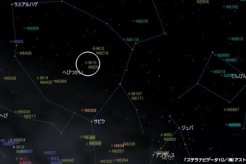 M10の星図