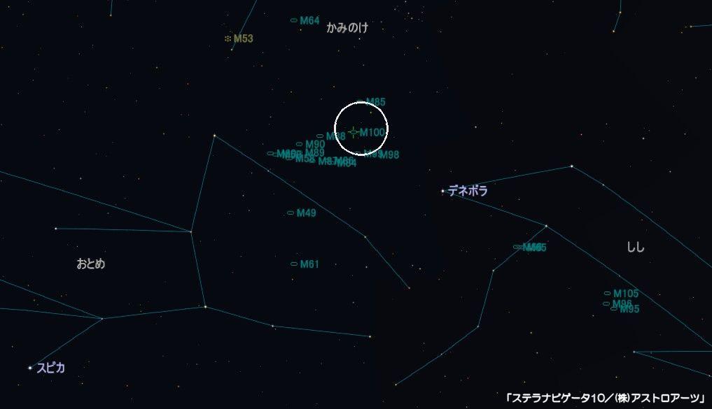 M100の星図