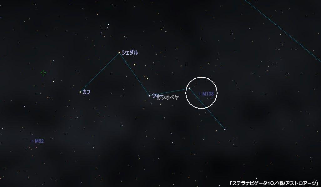 m103の星図