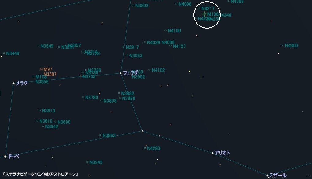M106の星図