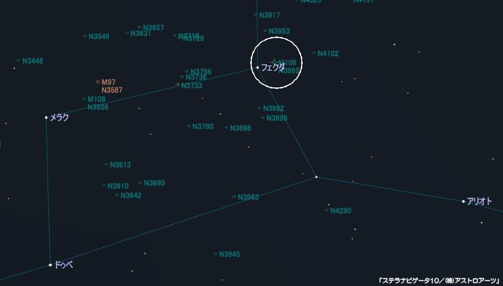M109の星図