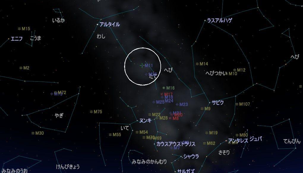 M11の星図