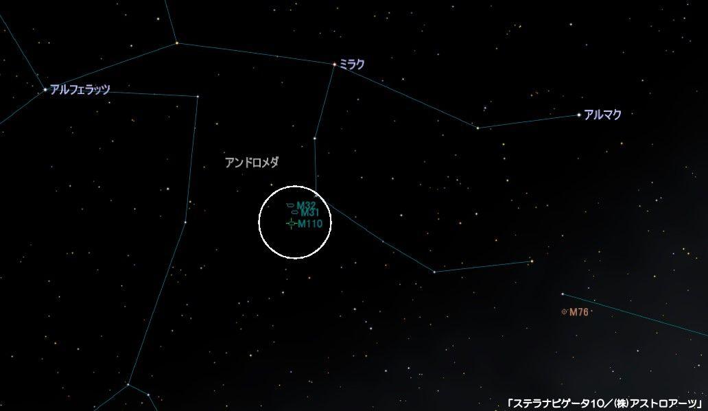m110の星図
