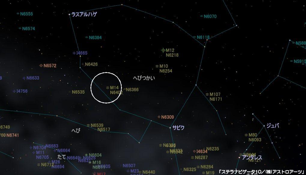 M14の星図