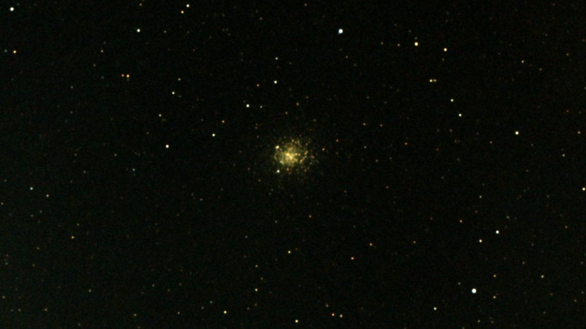 口径15.2cm反射望遠鏡(LXD-55)/F5/PENTAX-KP/ISO25600/カメラダーク/疑似フラット/露出6秒×16枚を加算平均コンポジットした2017年08月30日20時59分50秒から撮影したM19のメシエ天体写真です。