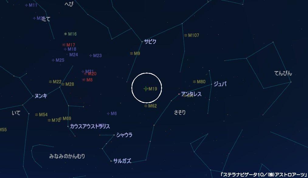 M19の星図