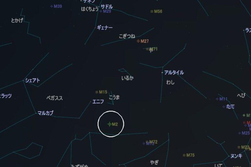 M2の星図