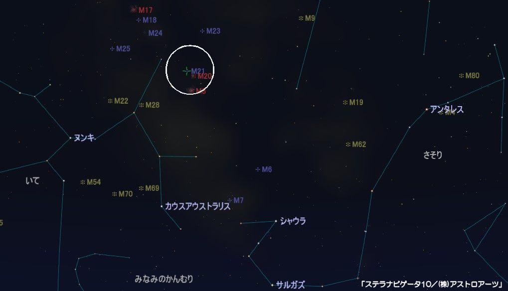M21の星図