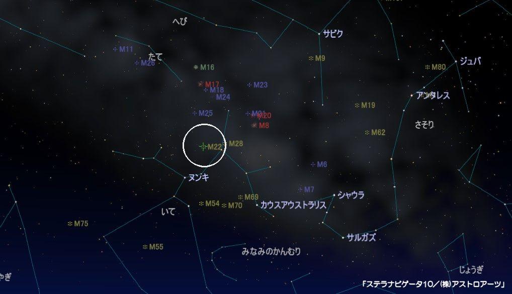 M22の星図