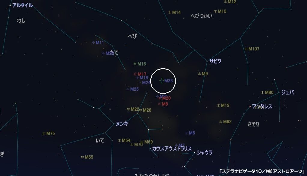m23の星図
