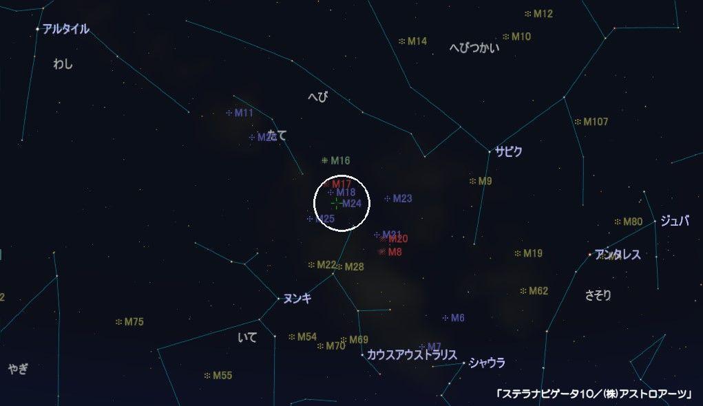 M24の星図