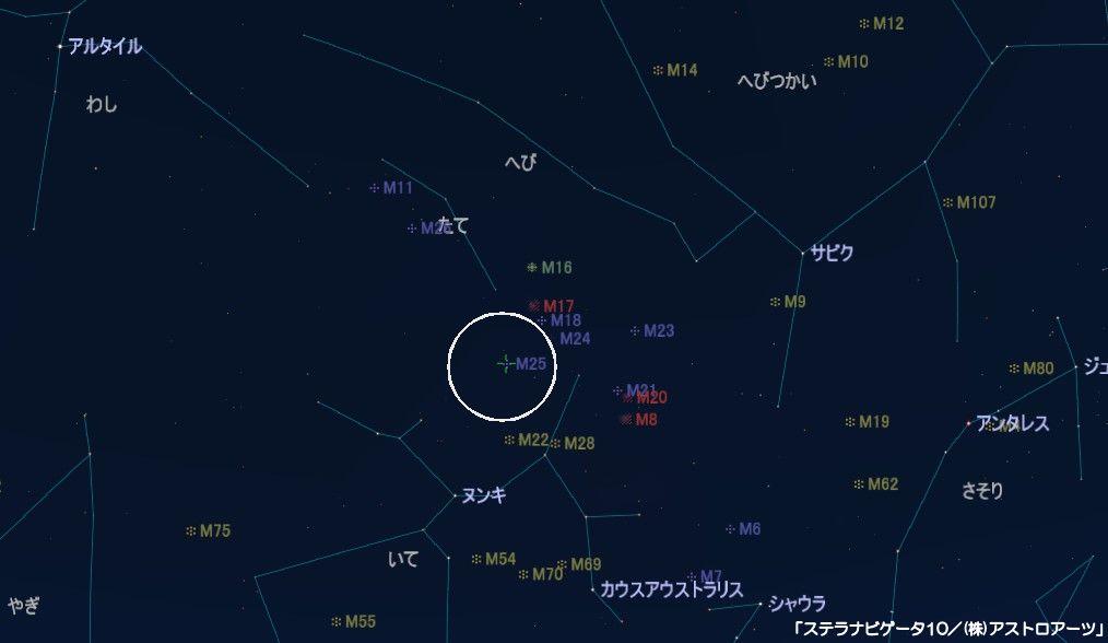 M25の星図
