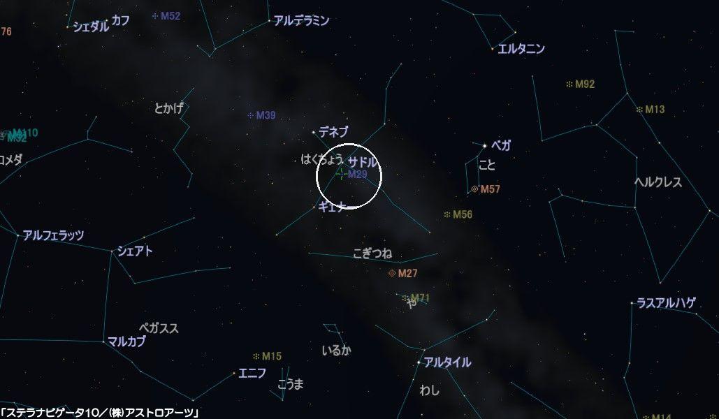 M29の星図