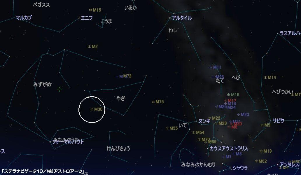 M30の星図