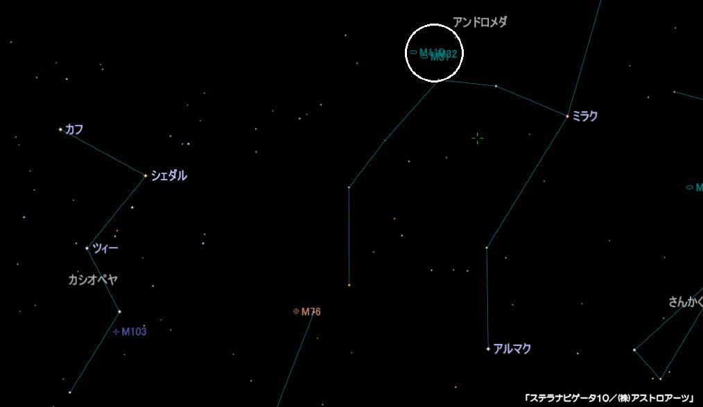 M31(アンドロメダ銀河)の星図