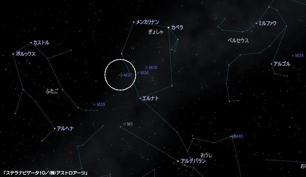 M37の星図