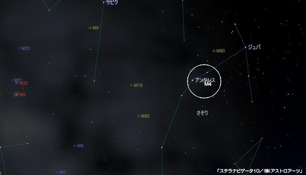 m4の星図