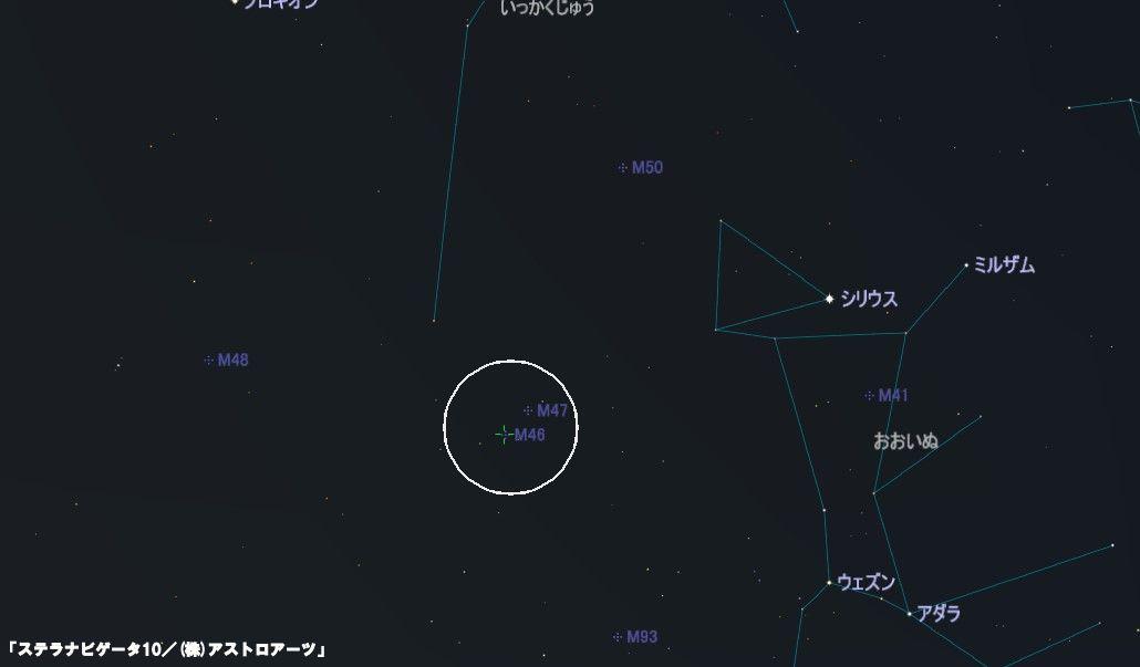 M46の星図