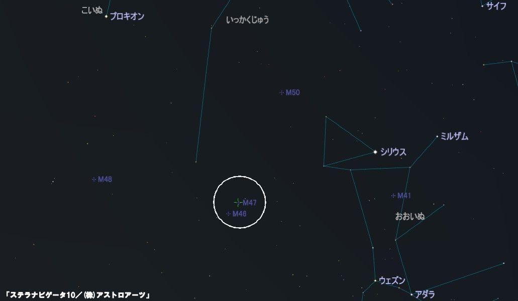 M47の星図