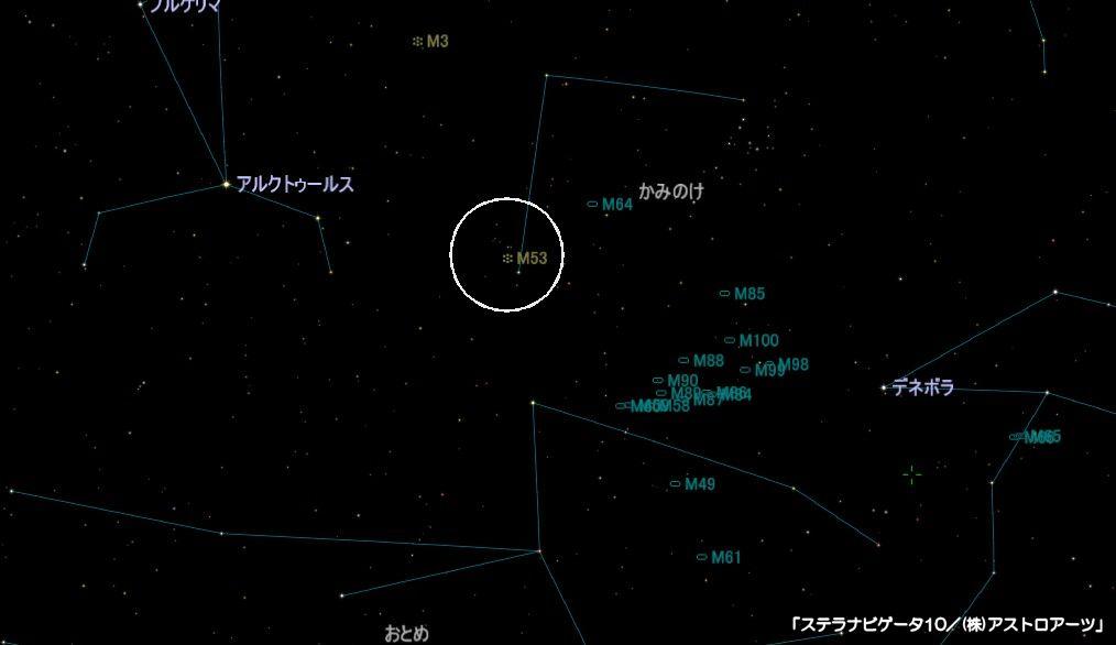 m53の星図