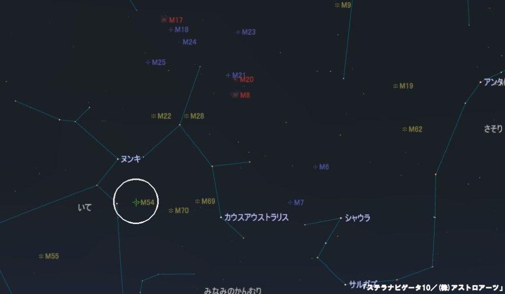 M54の星図