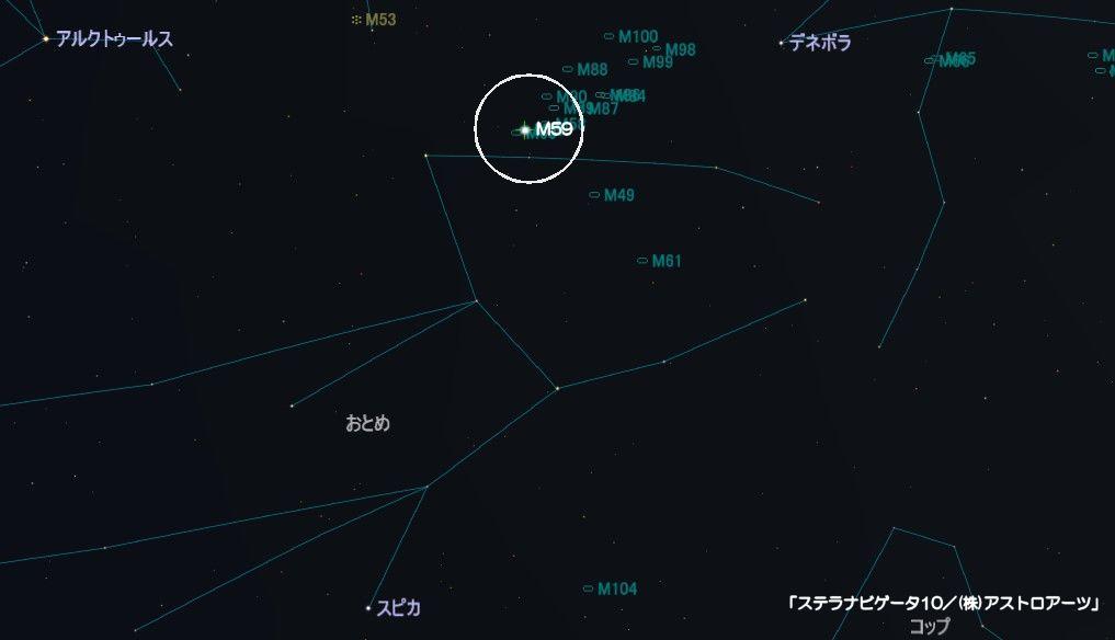 M59の星図