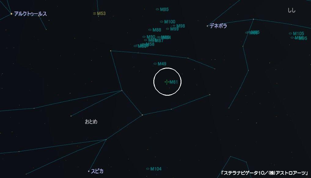 M61の星図