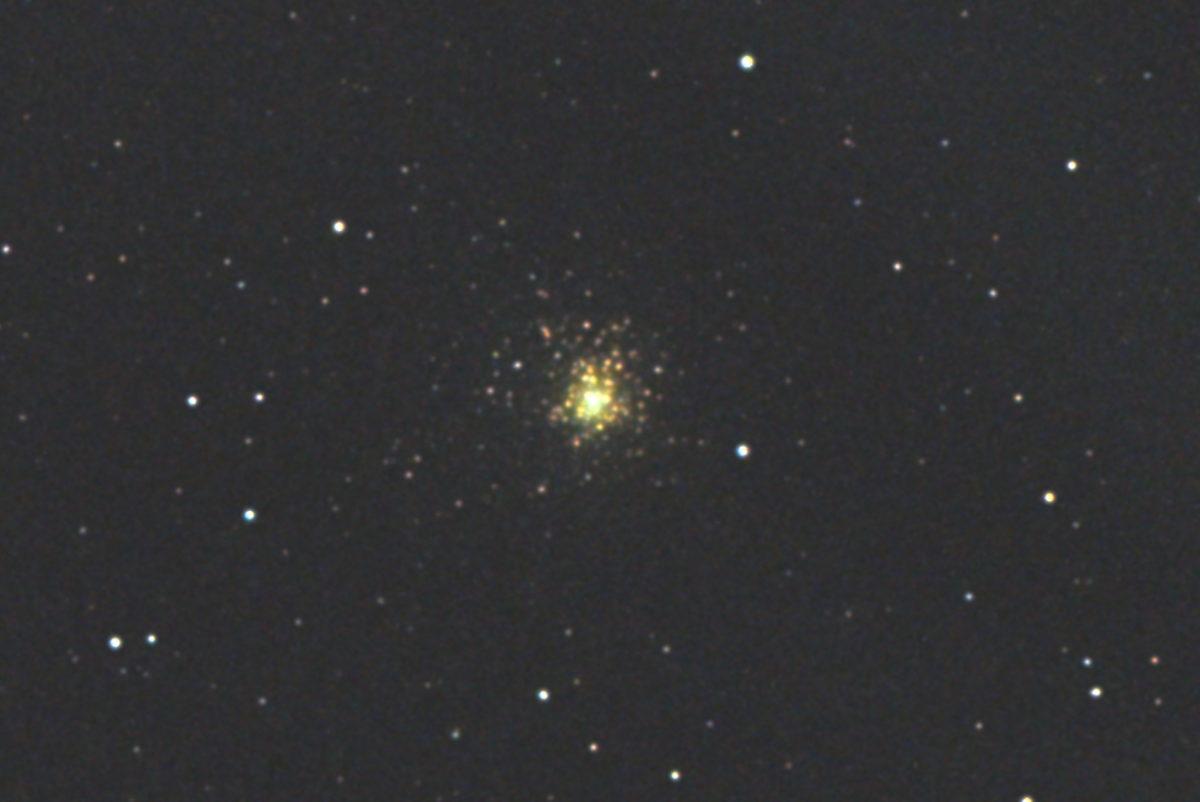 口径15.2cm反射望遠鏡(LXD-55)/F5/PENTAX-KP/ISO12800/カメラダーク/フラットエイドでフラット/露出4秒×14枚を加算平均コンポジットした2017年08月30日02時50分24秒から撮影したM62のメシエ天体写真です。
