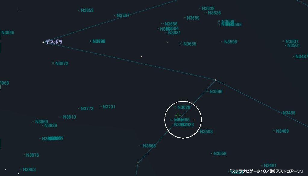 M65の星図