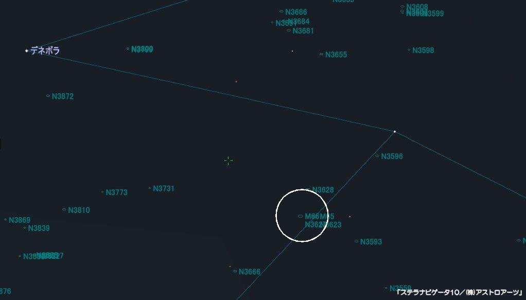 M66の星図
