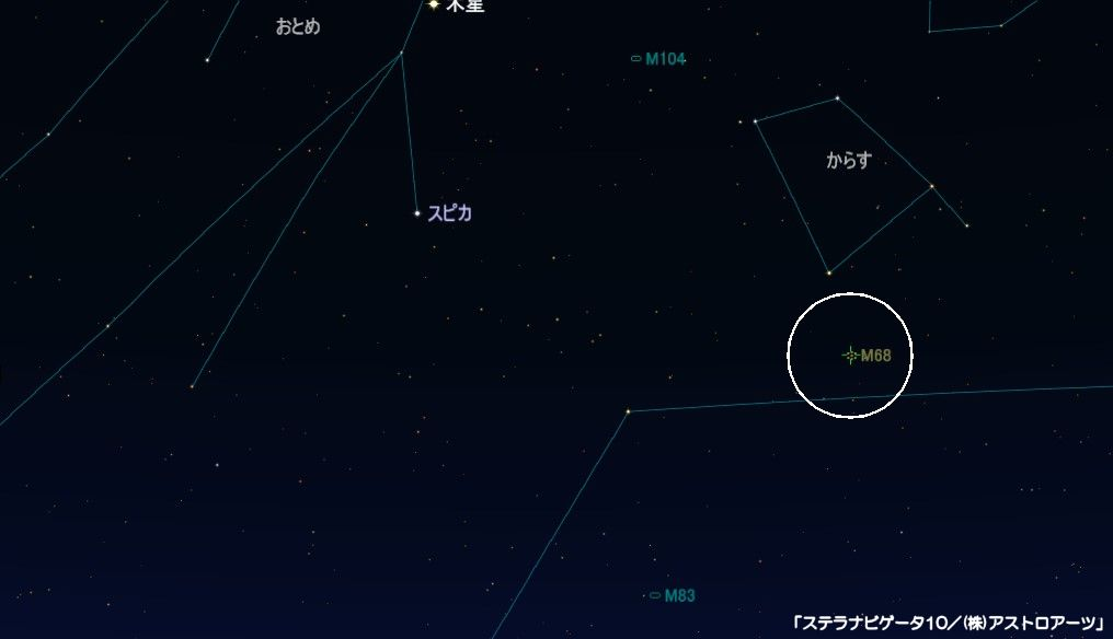 M68の星図