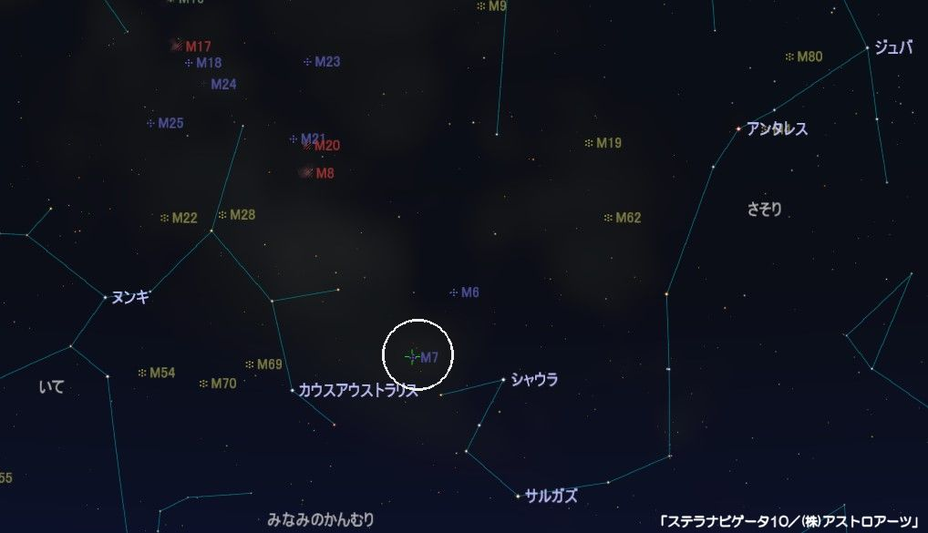 M7の星図
