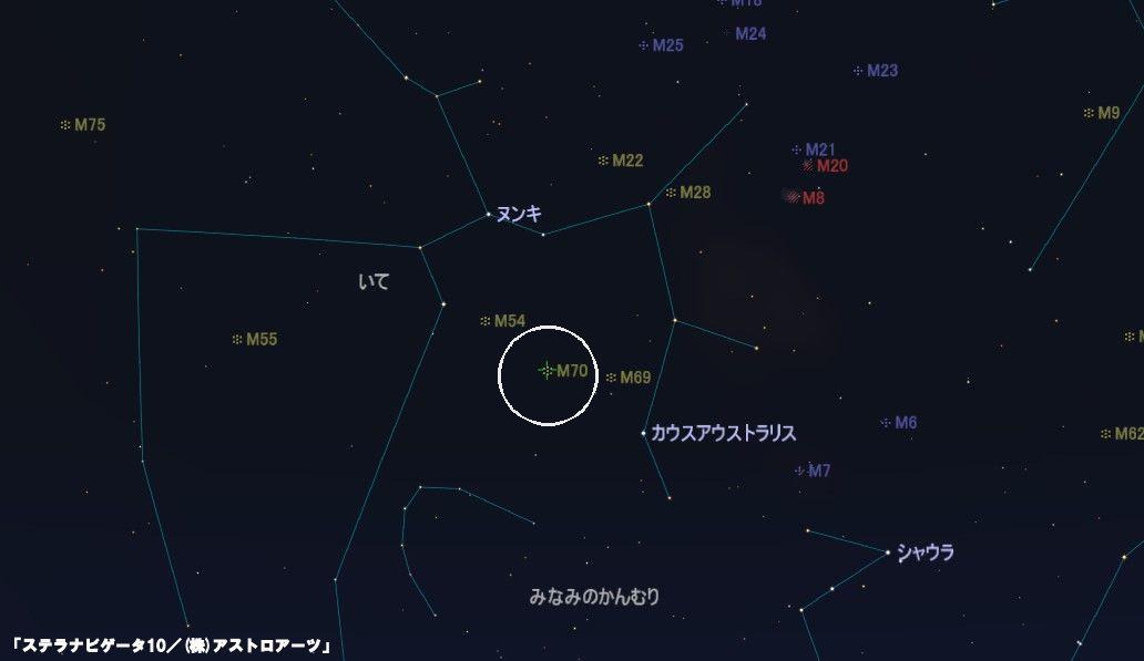M70の星図