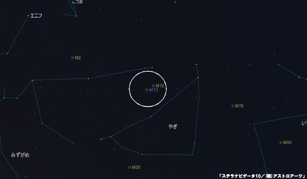 M73の星図