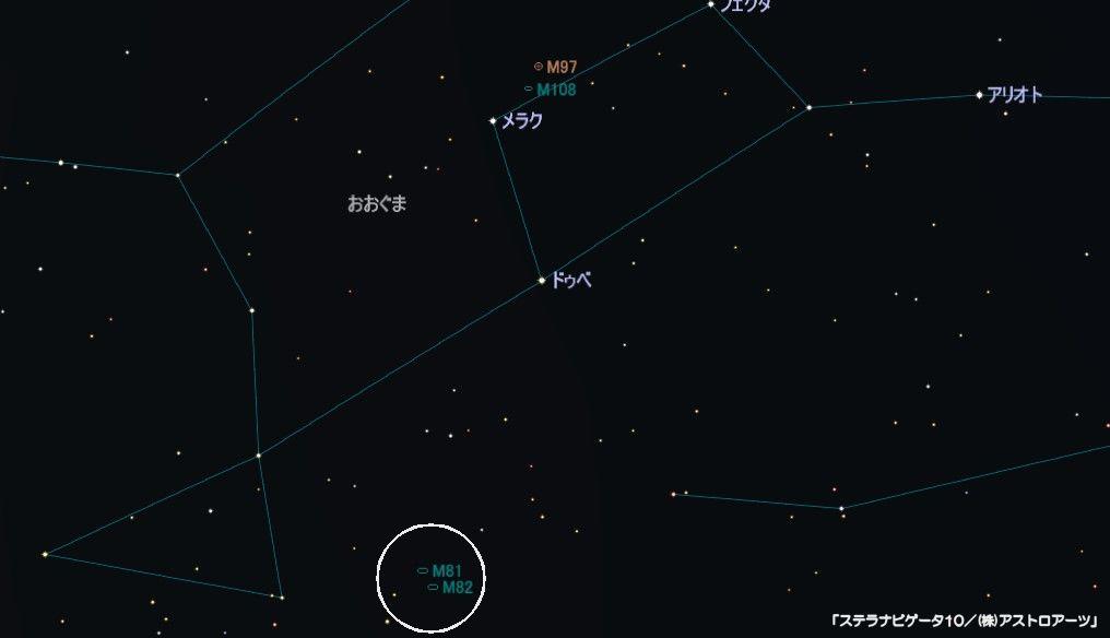 M81の星図