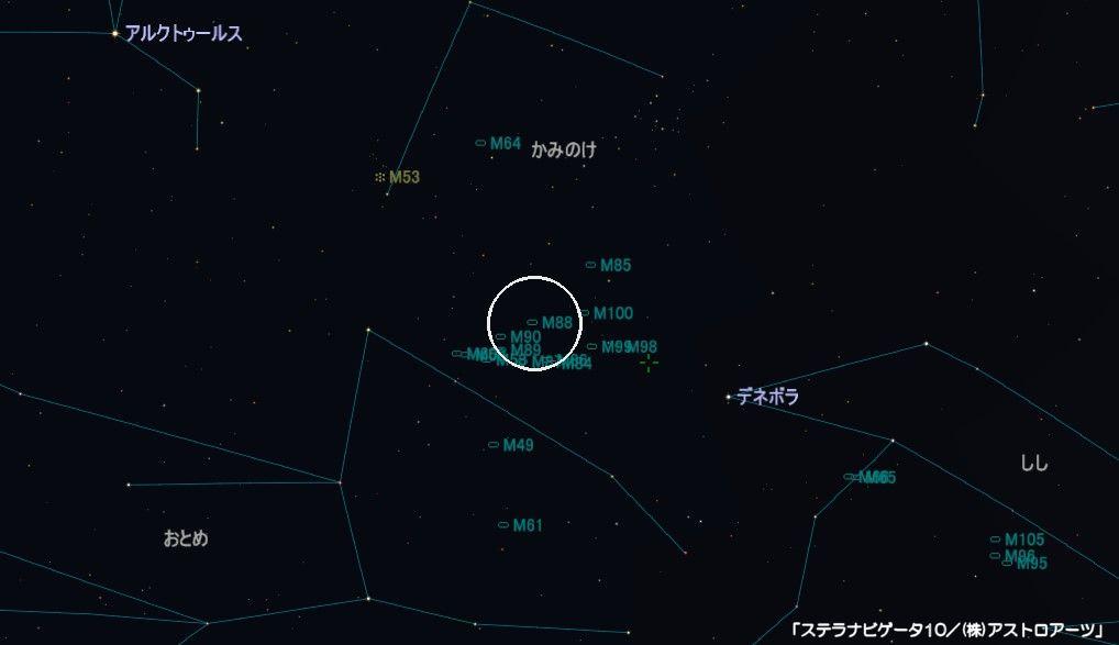 M88の星図