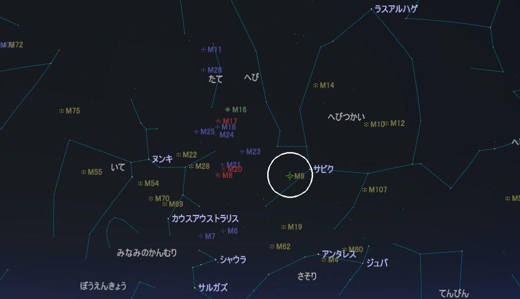 M9の星図
