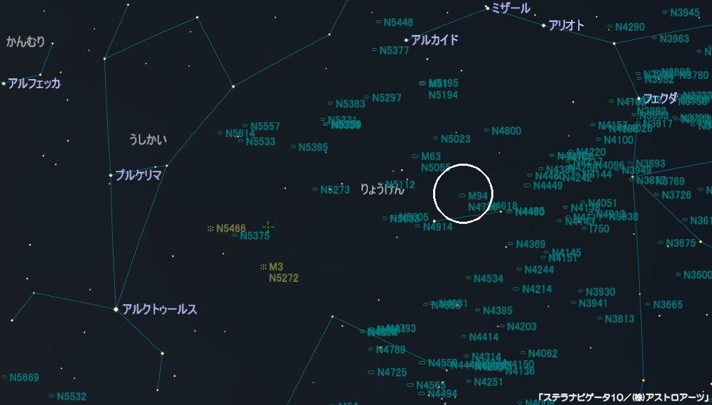 M94の星図