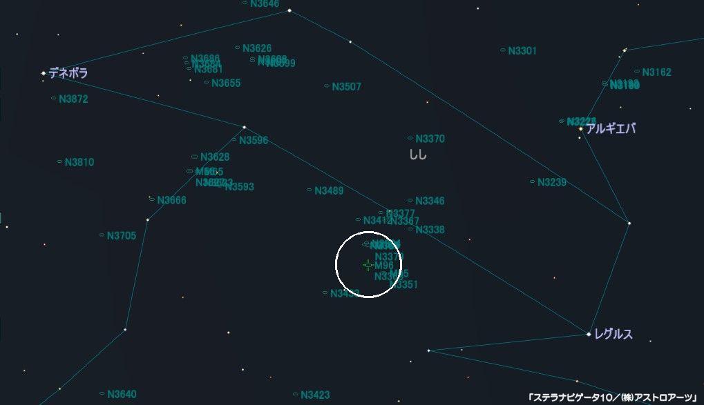 M96の星図