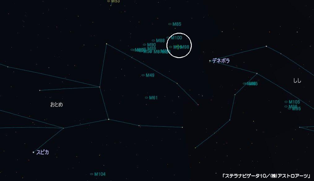 M98の星図