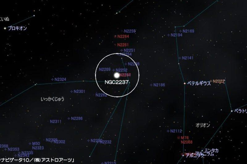 NGC2237(バラ星雲)の星図