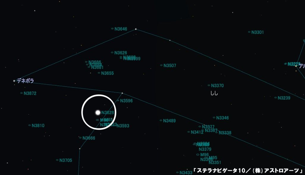 NGC3628の星図