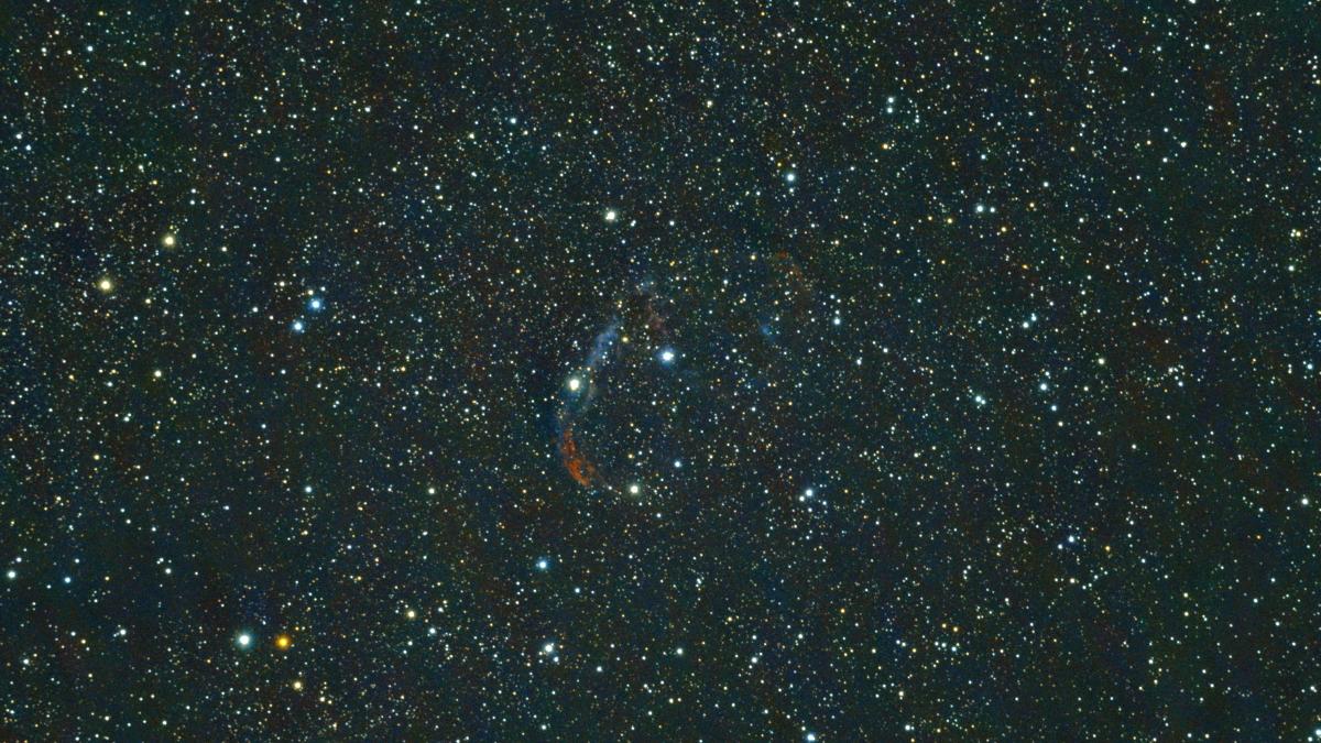 口径15.2cm反射望遠鏡(LXD-55)/F5/PENTAX-KP/ISO25600/カメラダーク/フラットエイドのフラット処理/露出20秒×27枚を加算平均コンポジットした2017年09月24日21時48分39秒から撮影したNGC6888(三日月星雲・クレセント星雲)の天体写真です。