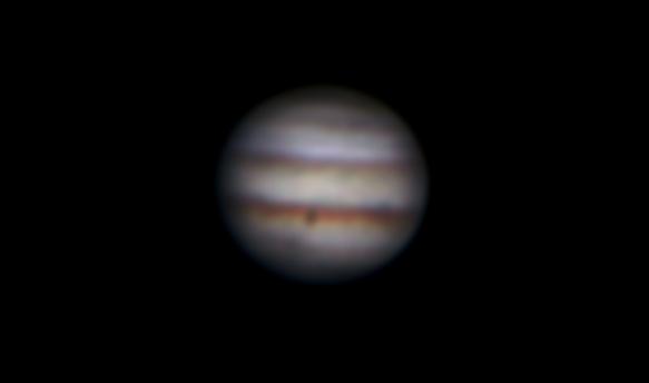 25cm反射望遠鏡(white dob)/F4.8/CANON EOS X7i/35秒/809枚を加算平均コンポジットした2018年04月19日に撮影した木星の天体写真です。